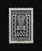 Austria, 1922.09.-- Mi:388 Definitive, 600 Krone,  Ear Of Corn - 1918-1945 1ste Republiek