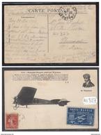 1888 AV327  AK PC CPA  MONOPLAN NIEUPORT  PILOTE PAR WEYMANN VIGNETTE PARIS MADRID 1911 NC  TTB - Aviatori
