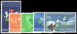 Nigeria 1961 First Anniv Of Independence Unmounted Mint. - Nigeria (1961-...)