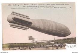 1957 AV397   AK PC CPA  LE  DIRIGEABLE VILLE DE PARIS    NC  TTB - Dirigibili