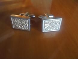 Vintage - Paire De Boutons De Manchette - Cuff Links & Studs