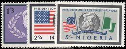 Nigeria 1964 President Kennedy Memorial Issue Unmounted Mint. - Nigeria (1961-...)