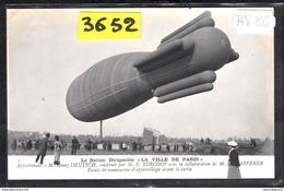 1532 AV86 AK PC CARTE PHOTO   DIRIGEABLE VILLE DE PARIS ESSAIS  NC  TTB - Dirigibili
