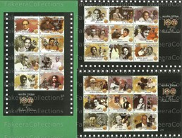 INDIA 2013 Inde Indien - 100 YEARS OF INDIAN CINEMA - COMPLETE SET OF 6v MINIATURE SHEET MS MNH ** - As Scan - India