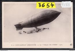 1536 AV88 AK PC CARTE PHOTO   LOCOMOTION AERIENNE  LE  VILLE DE PARIS  NC  TTB - Dirigibili