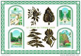 """France 2004 - BF 71 """"Salon Du Timbre 2004 - Jardins De France"""" - Blokken En Velletjes"""