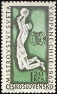 Czechoslovakia / Stamps (1962) 1231: Sport - Soccer World Cup, Chile 1962 (goalkeeper); Painter: Anna Podzemna - 1962 – Chili