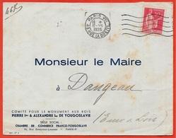Rare Lettre à En-tête 1935 Comité Monument Aux Rois PIERRE 1er (de Serbie) & ALEXANDRE 1er De Yougoslavie 75008 Paris - Marcophilie (Lettres)