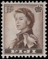 Fiji 1954-59 1½d Sepia Unmounted Mint. - Fiji (...-1970)