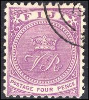 Fiji 1878-99 4d Bright Purple Perf 11x11¾ Fine Used. - Fiji (...-1970)