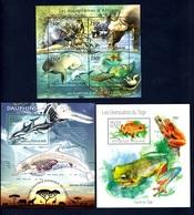 Togo, 2011 & 2013- Three Different Blocks MintNH. Delfini Dolphins, Mangroves Mangrovie, Raganella Tree Frog. - Stamps