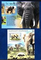 Togo,African Elephans, Elefante Africano. Two Blocks Issued  2013, 2014. Stamps MintNH. - Elephants