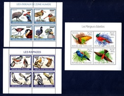 Togo,Birds-Uccelli. Two Blocks 2010 & One 2013. Stamps MintNH. - Perroquets & Tropicaux