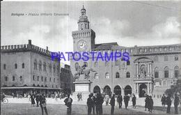 100968 ITALY BOLOGNA EMILIA ROMAÑA SQUARE VITTORIO EMANUELE POSTAL POSTCARD - Italia