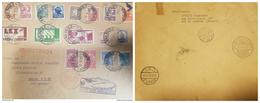 O) 1932 BRAZIL, AIR SERVICE TRANSATLANTICO - ZEPPELIN-SANTOS DUMONT'S BIPLANE SCT C20-SANTOS DUMONT'S AIRSHIP SC C18, IN - Brazil