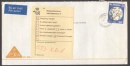 1986  Air Letter To Denmark - Returned To Sender - Saint Helena Island