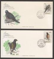 1984 Birds: Peaceful Dove, Common Mynah On 2 FDCs - Aitutaki