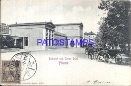 100992 ITALY FIUME CROATIA STATION TRAIN POSTAL POSTCARD - Italie