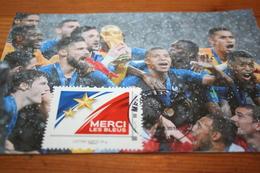 """CPM Carte Maximum  CM """"Merci Les Bleus"""" Coupe Du Monde 2018 Russie Seconde Etoile FRANCE - Football"""