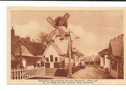 PARIS 1925 EXPO. INT. ARTS DECORATIFS / CPA VIERGE N° 39 Le Village Du JOUET (Pelletier Frères Arch.)  (carnet) - Mostre
