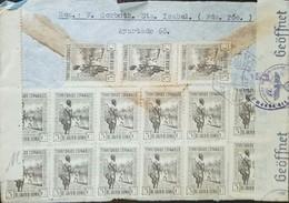 O) 1931 SPANISH GUINEA, PORTER 5c BROWN BLACK- MULTIPLE COVER, GEOFFNET, XF - Guinée Espagnole