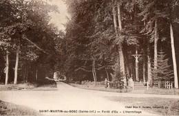 76. CPA. SAINT MARTIN AU BOSC. Forêt D'Eu. - L'Hermitage. 1947. - Autres Communes