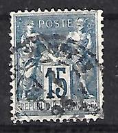 France 1876-98 Sage (o)  15c - 1876-1898 Sage (Type II)