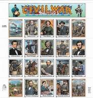 US 1995 Sheet American Civil War Heroes,Scott #2975,VF-XF MNH** - United States