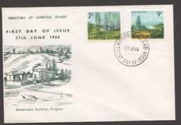 1966  Landscapes  Complete SEt On Unaddressed FDC - Norfolk Island