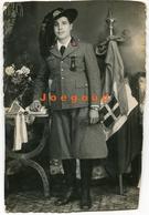 Foto Postale Bonivento Ritratto Militare Bersaglieri Pola Italia - Guerra, Militari