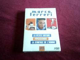 COFFRET DE MARCO FERRERI 3 FILMS NEUF EMBALLAGE D'ORIGINE  ° LA PETITE VOITURE / PIPICACADODO / LA SEMENCE DE L'HOMME - Classiques