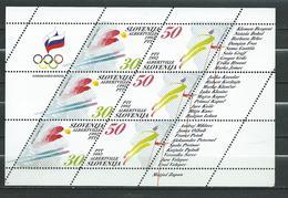 SLOVENIA  1992 Winter Olympic Games - Albertville, France M/S  MNH - Slovénie
