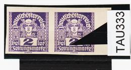 """TAU333 ÖSTERREICH 1920 Michl 293 PLATTENFEHLER (als Beweis 2 Stück Eingestellt) Weißer PUNKT über """"n"""" ** Postfrisch - Abarten & Kuriositäten"""