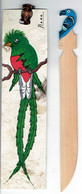 Marque Pages Mexicain Décoré D'un Quetzal Resplendissant (pharomachrus Mocinno) + Coupe-papier Oaxaca - Libros, Revistas, Cómics