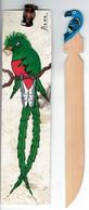 Marque Pages Mexicain Décoré D'un Quetzal Resplendissant (pharomachrus Mocinno) + Coupe-papier Oaxaca - Boeken, Tijdschriften, Stripverhalen