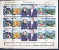 PALAU 1994 FEUILLET  INDEPENDANCE-DRAPEAUX   YVERT N°683/87  NEUF MNH** - Palau