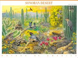 USA 1999 Mi.No. 3100 - 3109 Sonoran Desert Birds Reptiles Mammals M\sh MNH** - Oiseaux