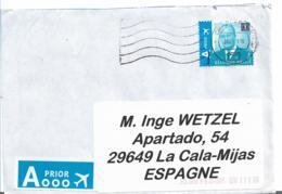 B400 / BELGIEN -  König, Einzelfrankatur Auf Brief  Nach Spanien 2018 - Belgium