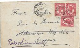Qld021 / QUEENSLAND 3 P: Frankatur A:Queensland-Brief Mit Queen Victoria 1911 Ex Mt. Sylvia  Gatton N. Peine B. Hannover - Briefe U. Dokumente