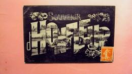 """HONFLEUR  """" MULTI VUES SOUVENIR D'HONFLEUR """" ECRITE ET  VOYAGEE 190? . - Honfleur"""