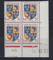"FR Coins Datés  YT 954 "" Armoiries Du Dauphiné "" Neuf** Du 14.10.53 - 1950-1959"