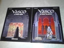 Vasco, 2 Volumes, La Dame Noire Et La Mort Blanche, De Chaillet Et Toublanc Aux éditions Du Lombard - Vasco