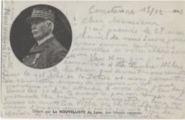 CARTE PATRIOTIQUE - LE MARECHAL PETAIN - OFFERT PAR LE NOUVELLISTE DE LYON AUX BLESSES RAPATRIES - DECEMBRE 1940 - Weltkrieg 1939-45
