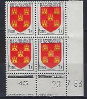 "FR Coins Datés  YT 952 "" Armoiries Du Poitou "" Neuf** Du 23.7.53 - 1950-1959"