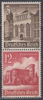 DR  S 266, Gestempelt, WHW: Bauwerke 1940 - Se-Tenant