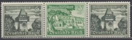 DR  W 137, Postfrisch **, WHW: Bauwerke 1939 - Se-Tenant