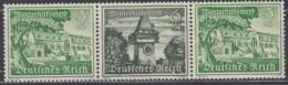 DR  W 139, Postfrisch **, WHW: Bauwerke 1939 - Se-Tenant