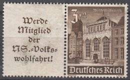 DR W 148, Ungebraucht *, WHW Bauwerke 1940 - Se-Tenant