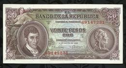 COLOMBIE . 20 PESOS ORO . 1965 - Colombie