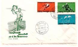 Fdc Rodia: MONDIALI CICLISMO 1962 No Viaggiata; AF_Roma - 6. 1946-.. Repubblica